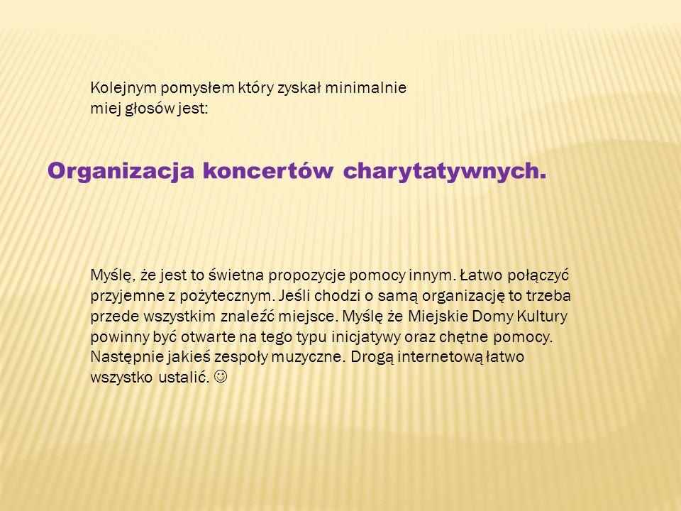 Organizacja koncertów charytatywnych.