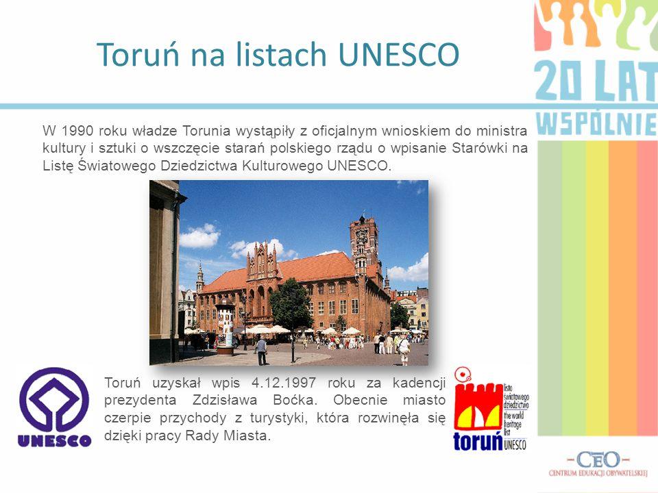 Toruń na listach UNESCO