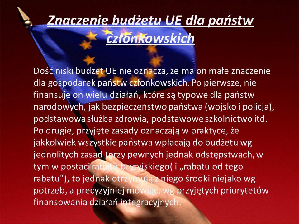 Znaczenie budżetu UE dla państw członkowskich