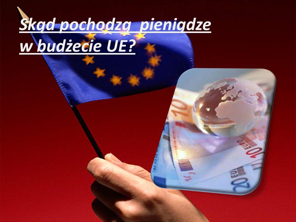 Skąd pochodzą pieniądze w budżecie UE