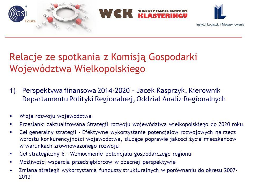 Relacje ze spotkania z Komisją Gospodarki Województwa Wielkopolskiego