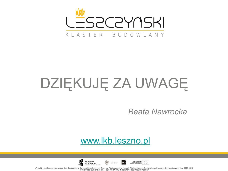 DZIĘKUJĘ ZA UWAGĘ Beata Nawrocka www.lkb.leszno.pl