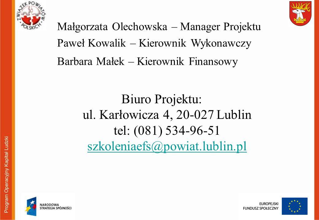 Małgorzata Olechowska – Manager Projektu
