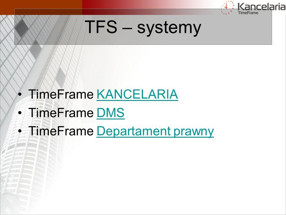 TFS – systemy TimeFrame KANCELARIA TimeFrame DMS