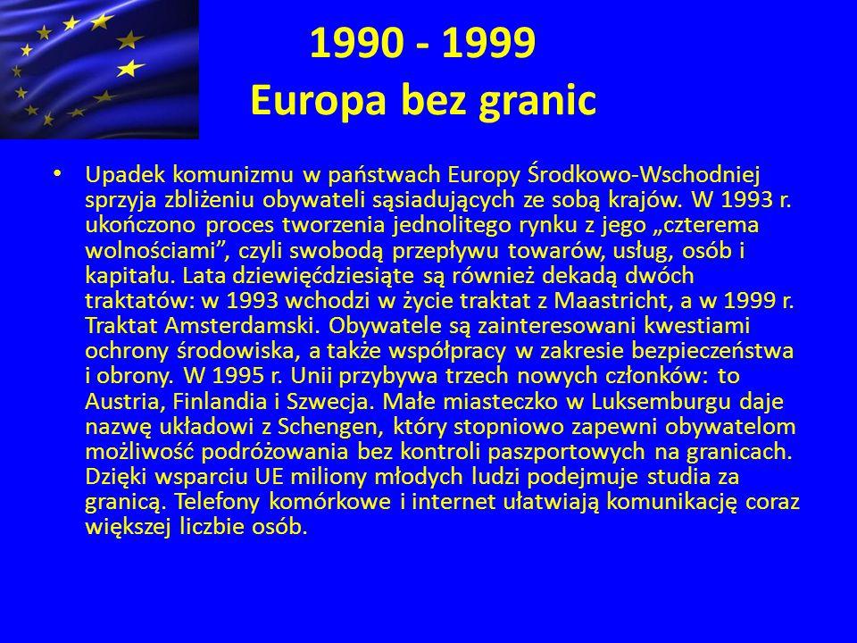 1990 - 1999 Europa bez granic