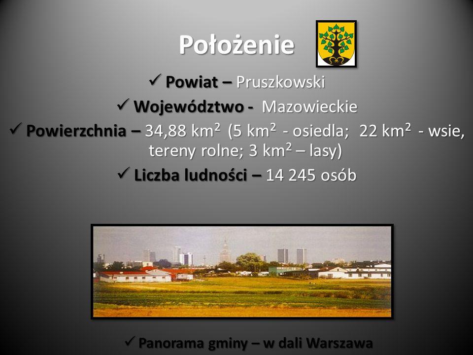 Panorama gminy – w dali Warszawa