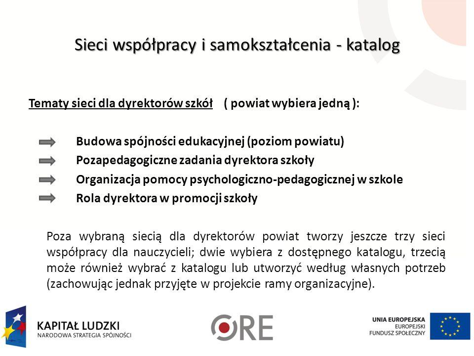 Sieci współpracy i samokształcenia - katalog
