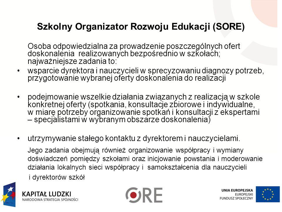 Szkolny Organizator Rozwoju Edukacji (SORE)