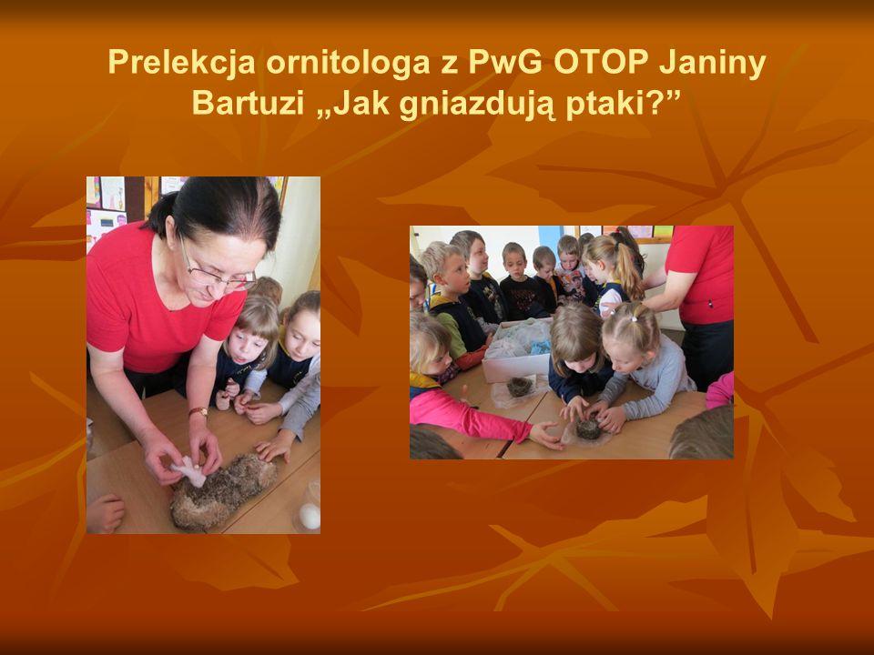 """Prelekcja ornitologa z PwG OTOP Janiny Bartuzi """"Jak gniazdują ptaki"""