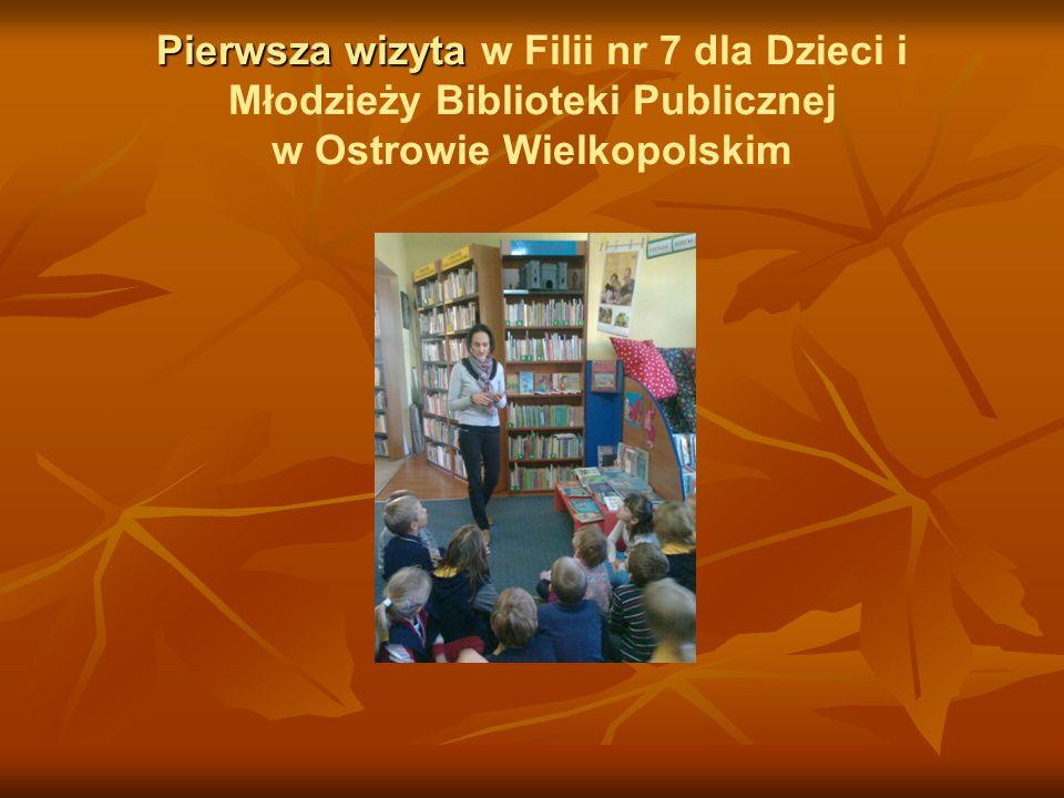 Pierwsza wizyta w Filii nr 7 dla Dzieci i Młodzieży Biblioteki Publicznej w Ostrowie Wielkopolskim