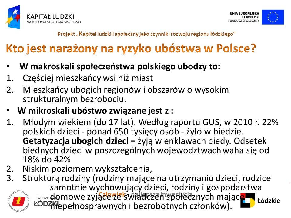 Kto jest narażony na ryzyko ubóstwa w Polsce