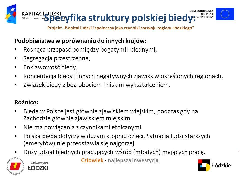 Specyfika struktury polskiej biedy:
