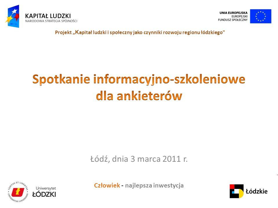Spotkanie informacyjno-szkoleniowe dla ankieterów