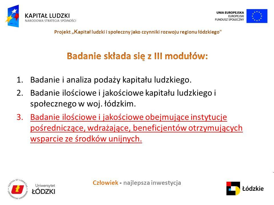 Badanie składa się z III modułów: