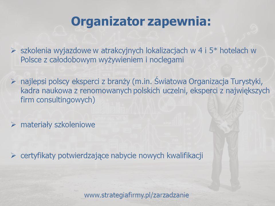Organizator zapewnia: