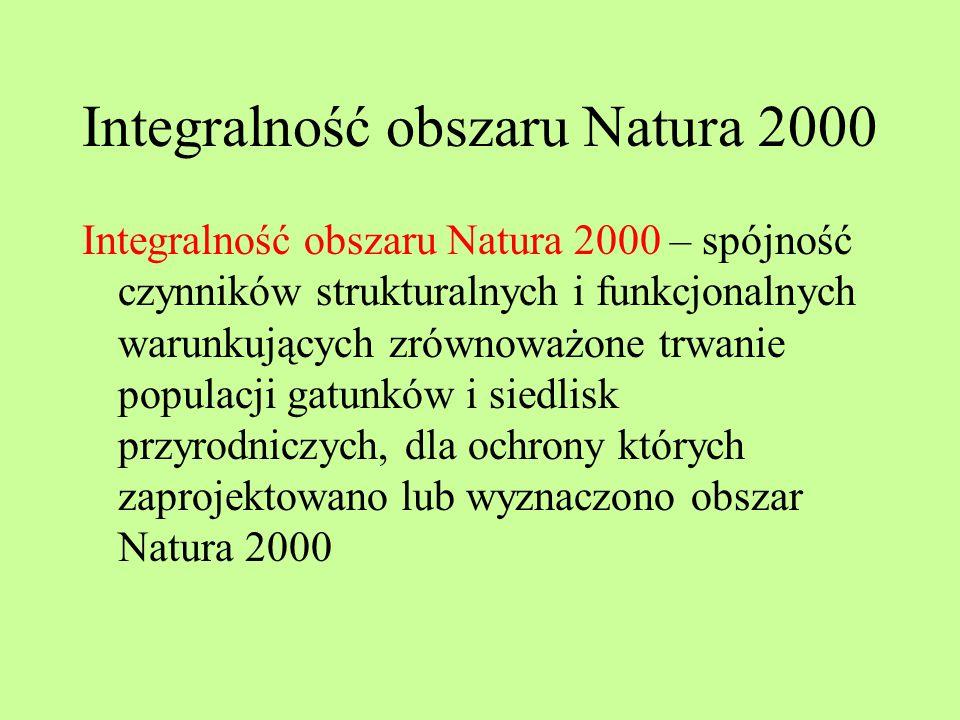 Integralność obszaru Natura 2000