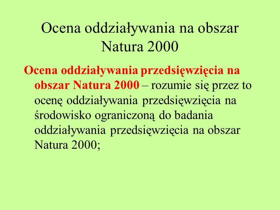 Ocena oddziaływania na obszar Natura 2000