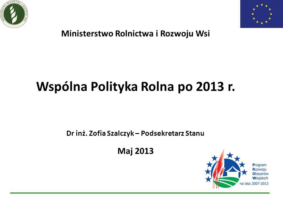 Ministerstwo Rolnictwa i Rozwoju Wsi Wspólna Polityka Rolna po 2013 r