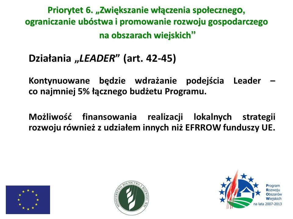 """Działania """"LEADER (art. 42-45)"""