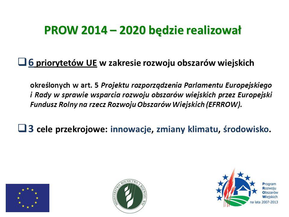 PROW 2014 – 2020 będzie realizował
