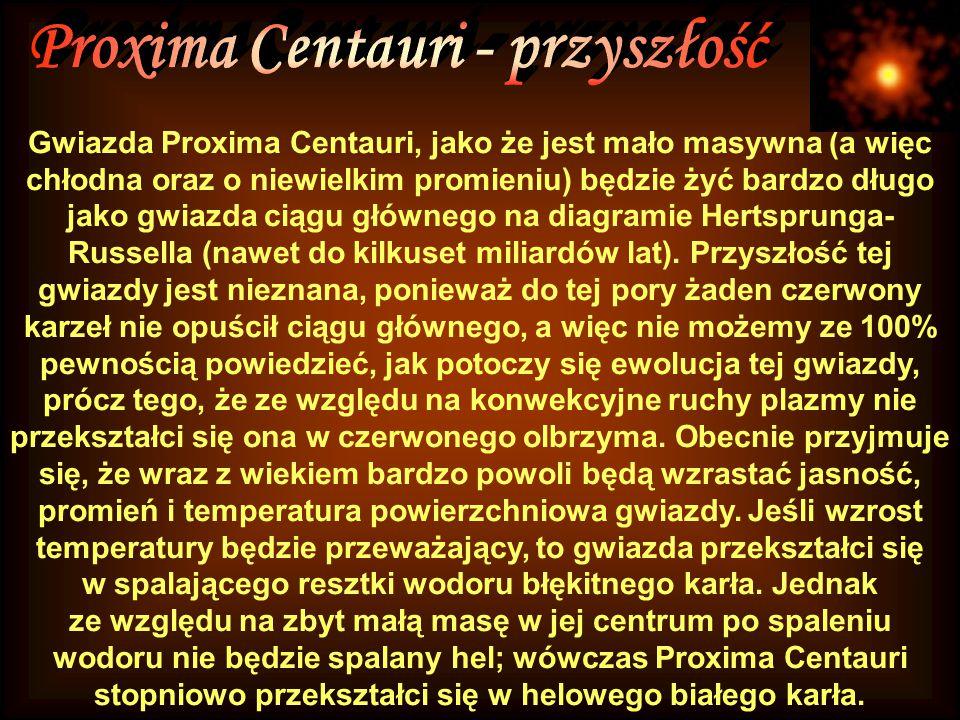 Proxima Centauri - przyszłość