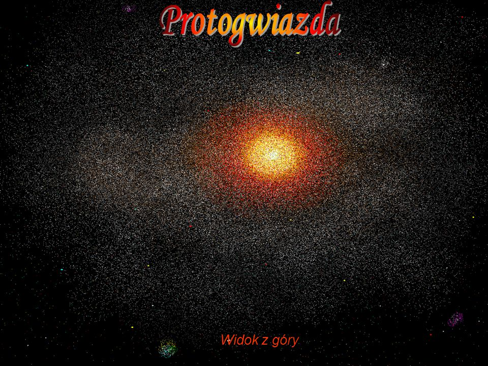 Protogwiazda Widok z góry