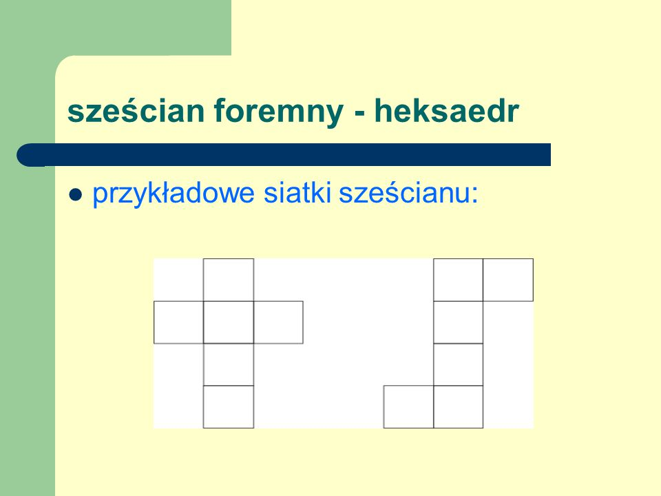 sześcian foremny - heksaedr