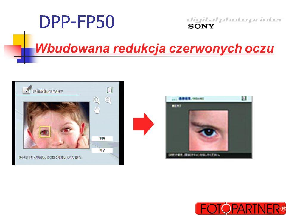 DPP-FP50 Wbudowana redukcja czerwonych oczu