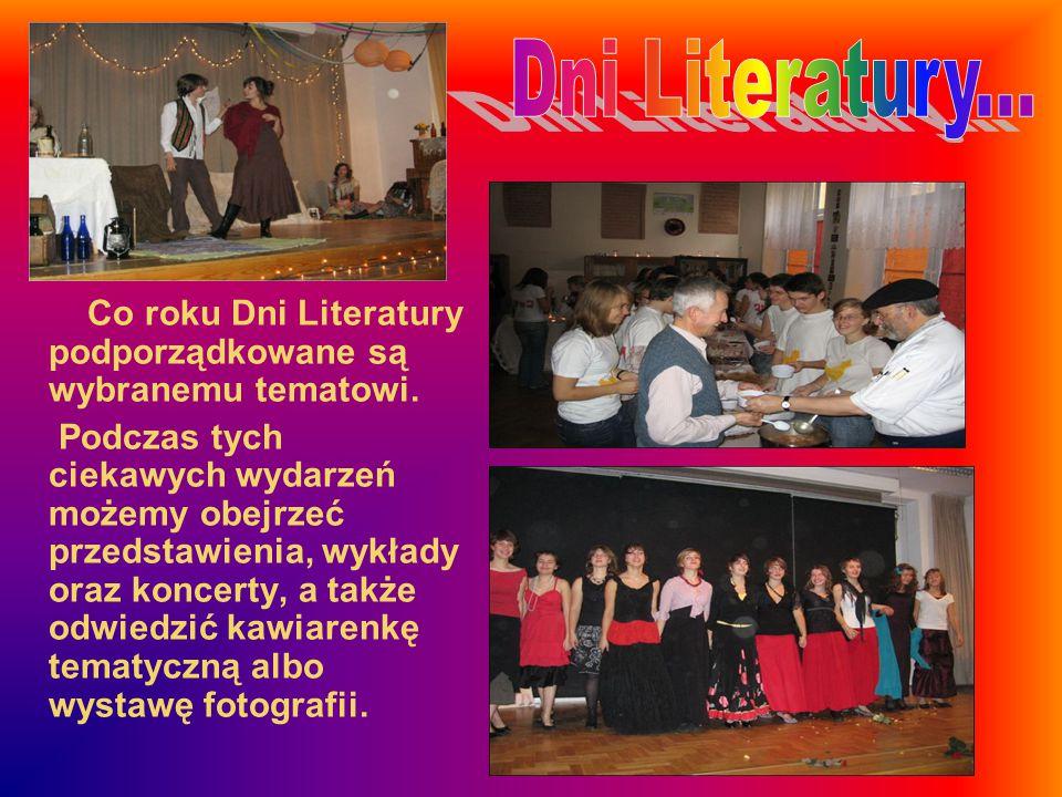 Dni Literatury... Co roku Dni Literatury podporządkowane są wybranemu tematowi.