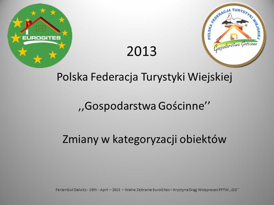 2013 Polska Federacja Turystyki Wiejskiej ,,Gospodarstwa Gościnne''