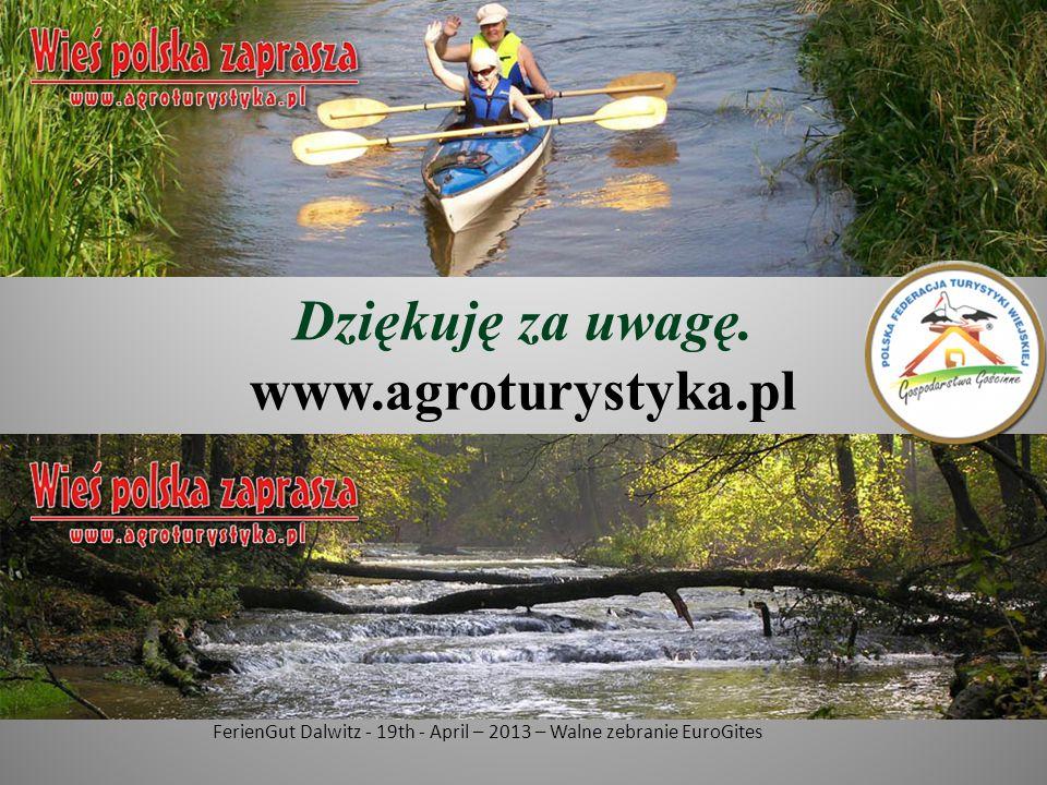 Dziękuję za uwagę. www.agroturystyka.pl