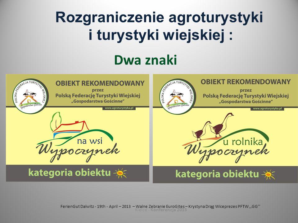 Rozgraniczenie agroturystyki i turystyki wiejskiej :