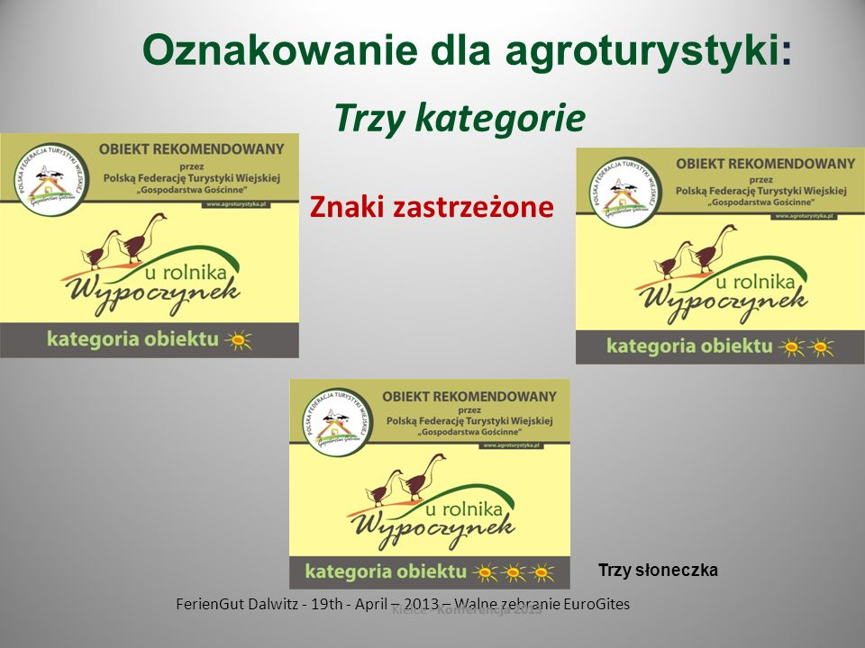Oznakowanie dla agroturystyki: