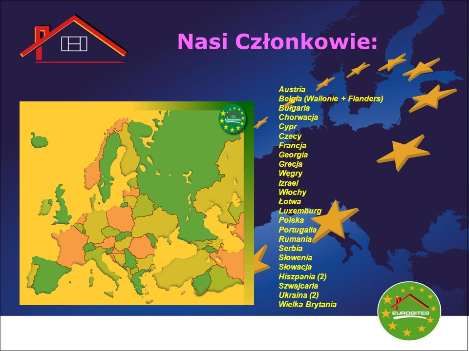 Nasi Członkowie: Austria Belgia (Wallonie + Flanders) Bułgaria