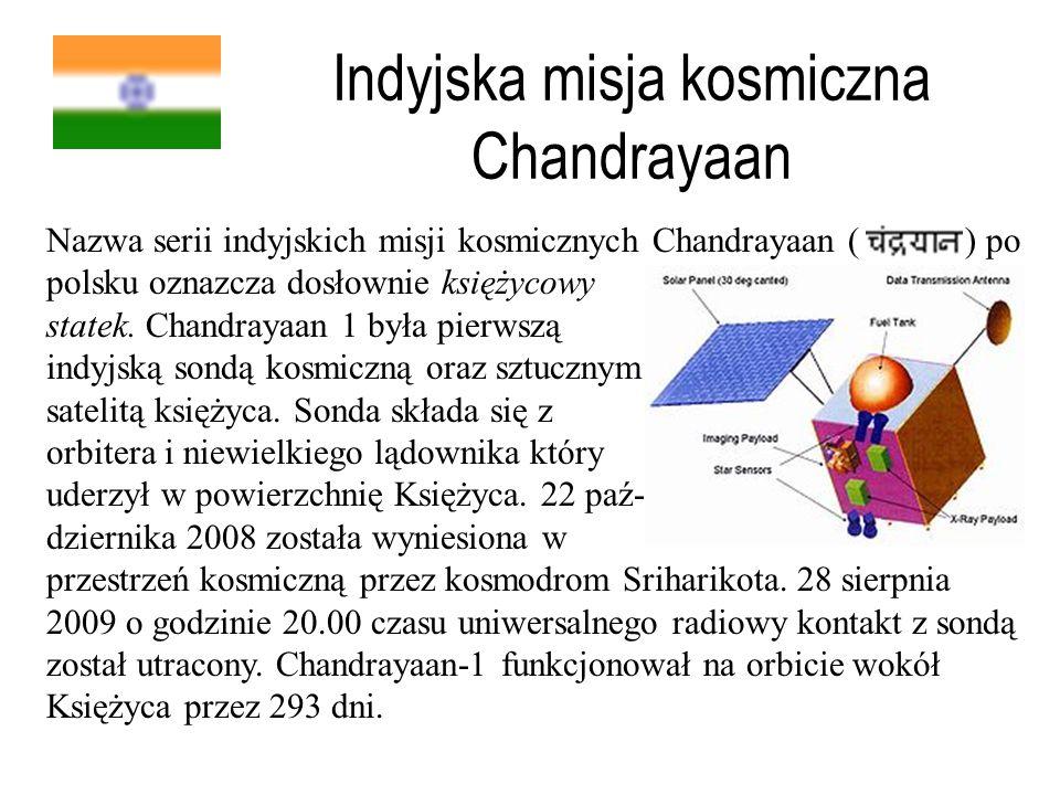 Indyjska misja kosmiczna Chandrayaan