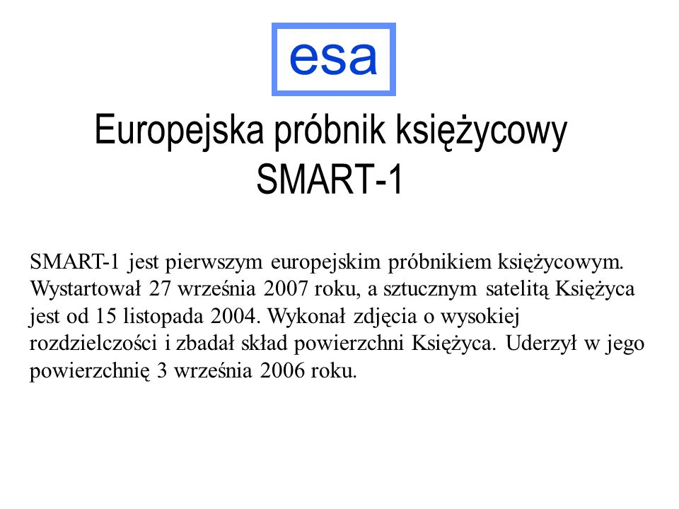 Europejska próbnik księżycowy SMART-1
