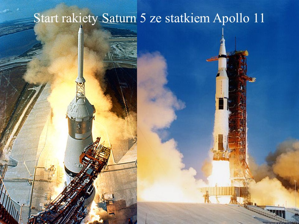 Start rakiety Saturn 5 ze statkiem Apollo 11