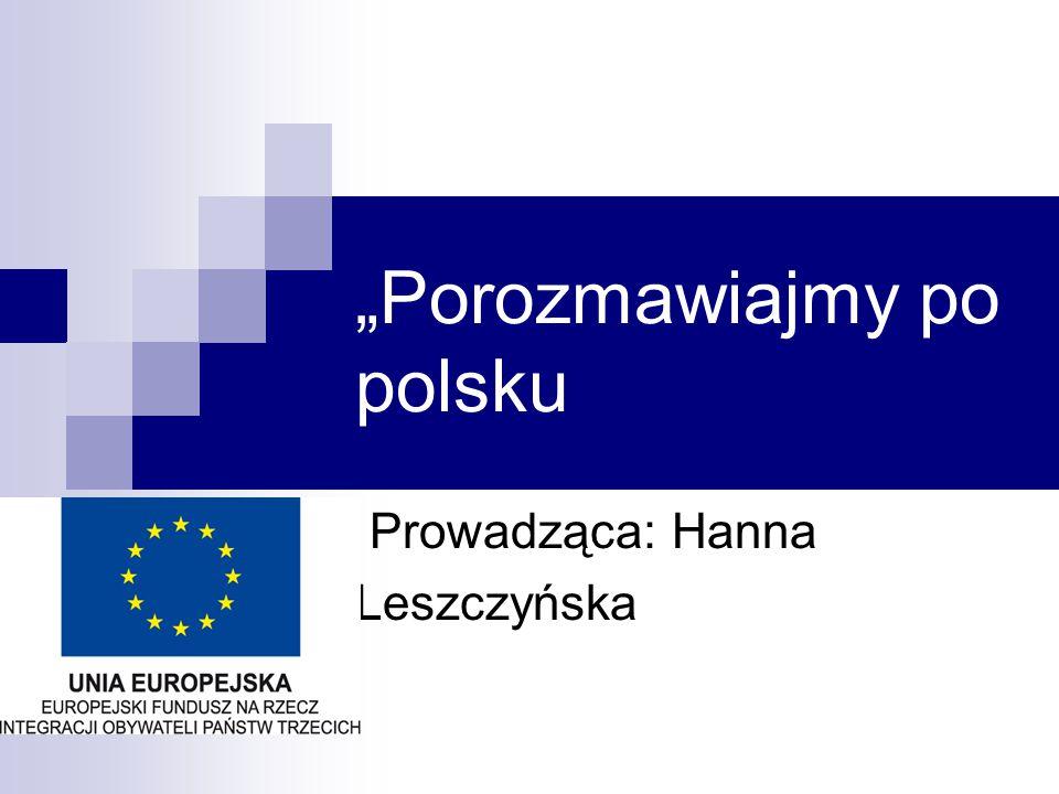 """""""Porozmawiajmy po polsku"""