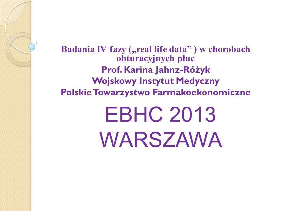 """Badania IV fazy (""""real life data ) w chorobach obturacyjnych płuc"""