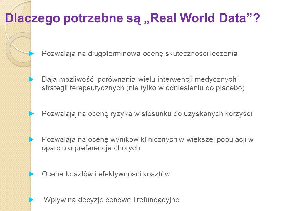 """Dlaczego potrzebne są """"Real World Data"""