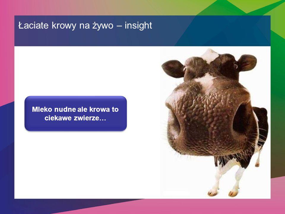 Mleko nudne ale krowa to ciekawe zwierze…