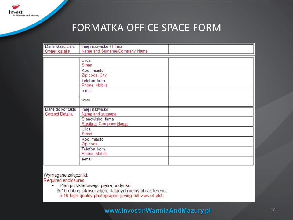 FORMATKA OFFICE SPACE FORM