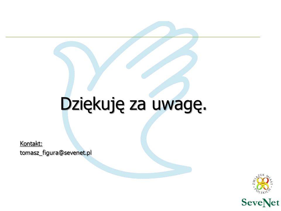 Dziękuję za uwagę. Kontakt: tomasz_figura@sevenet.pl