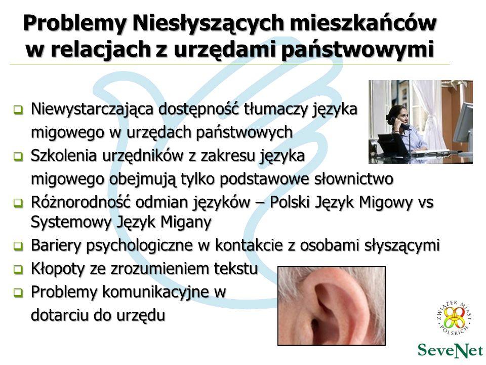 Problemy Niesłyszących mieszkańców w relacjach z urzędami państwowymi