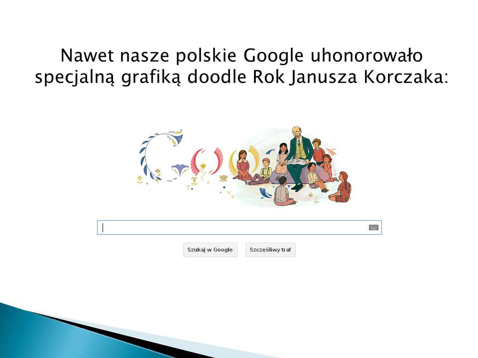 Nawet nasze polskie Google uhonorowało specjalną grafiką doodle Rok Janusza Korczaka: