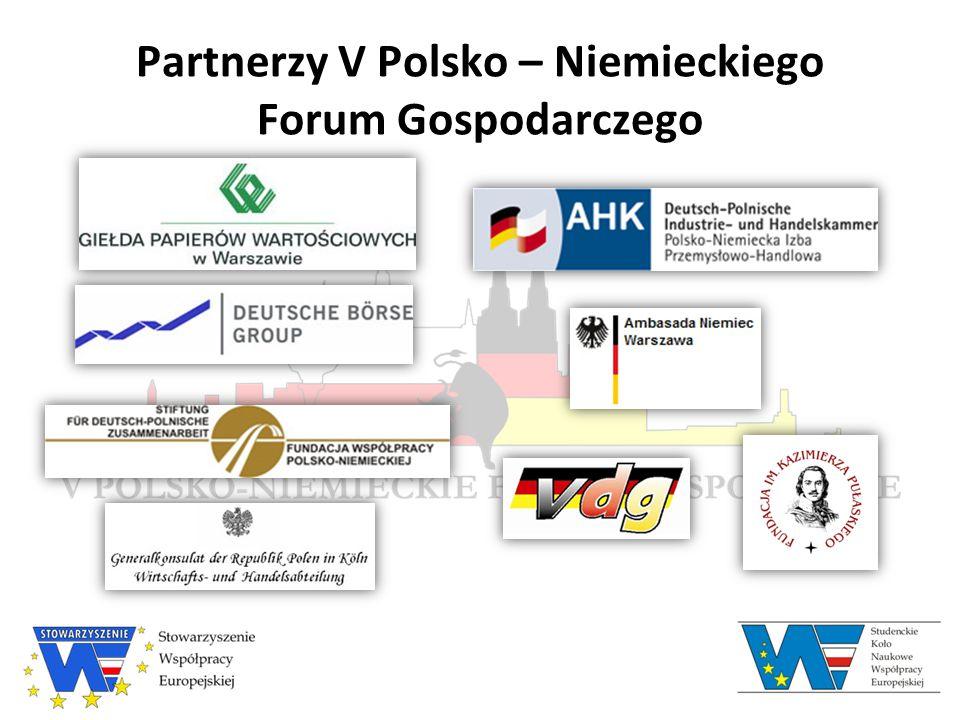 Partnerzy V Polsko – Niemieckiego Forum Gospodarczego