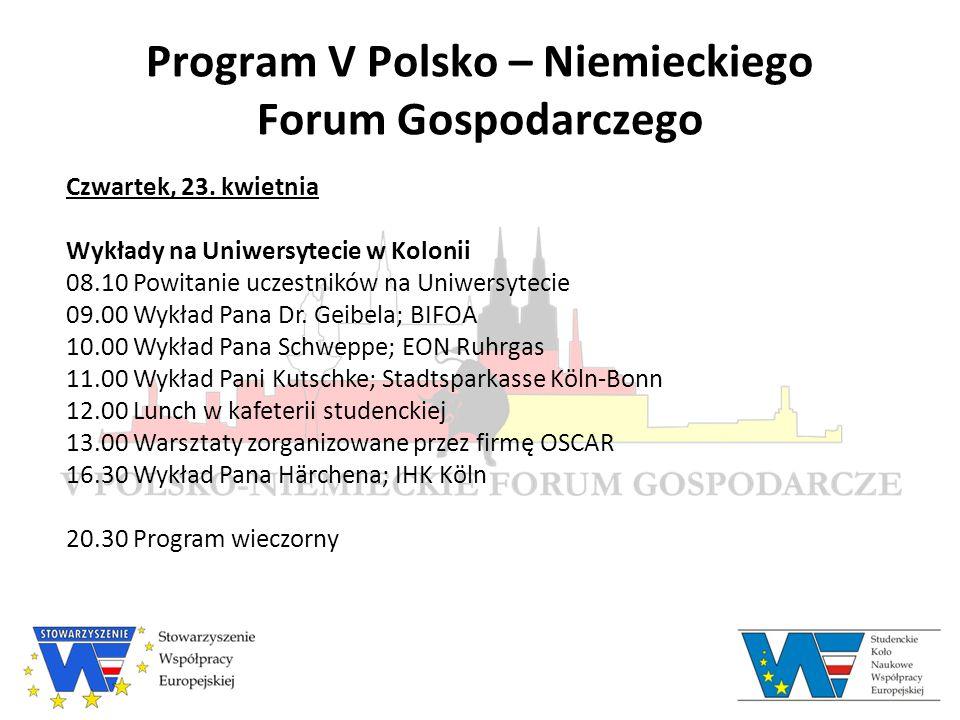Program V Polsko – Niemieckiego Forum Gospodarczego