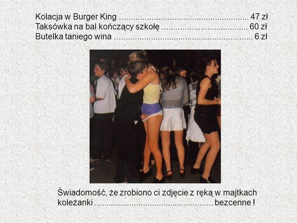 Kolacja w Burger King ......................................................... 47 zł