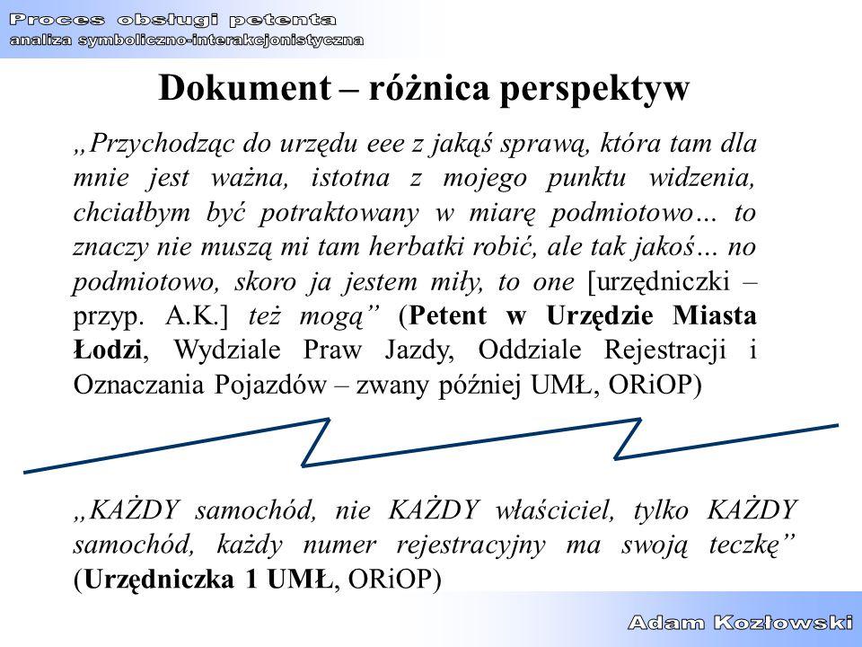 Dokument – różnica perspektyw
