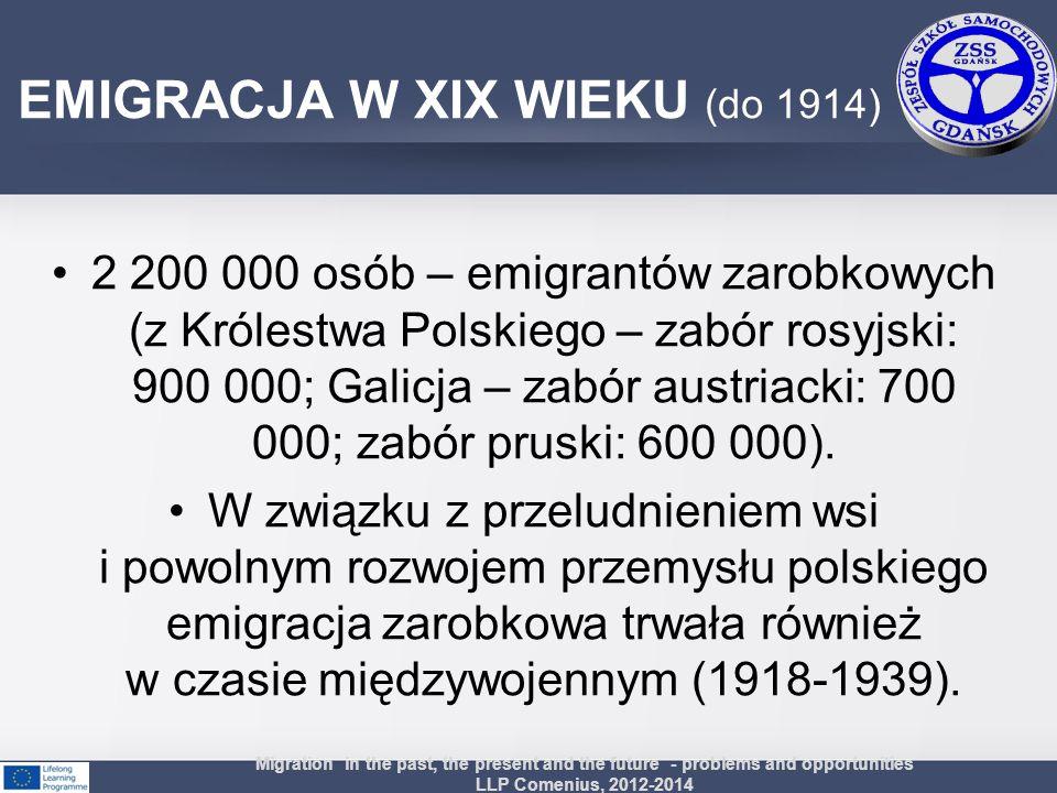 EMIGRACJA W XIX WIEKU (do 1914)